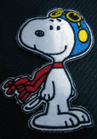 Wholesale Cheap Dropship Wholesale - Snoopy in winter Embroidered Iron on Patch Cheap Badge Applique wholesaler dropship