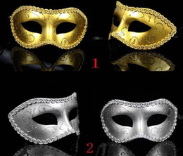 Wholesale Masquerade New Years Masks - Masquerade Costume Party New Year Christmas Halloween Dance Women Sexy Mix Face Mask Venetian Masks MYY6305
