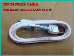 Wholesale Cheap Galaxy Note3 - Cheap 1M 3FT White USB Data Sync Charger Cable Charge Cord Line Adapter For Samsung Galaxy Note 3 Note III Note3 N9000 30pcs up