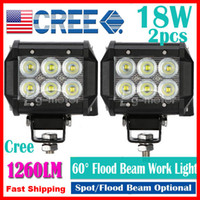 Wholesale 18w led work light flood for sale - Group buy 2pcs quot W LED W CREE LED Work Light Bar SUV ATV WD x4 JEEP Spot Flood Beam V V lm IP67 OffRoad Driving Motorcycle Fog Lamp