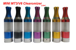 Wholesale Ego V6 Clearomizer - Mini MT3 Atomizer Clearomizer Cartomizer Detachable 2.0ml 2.4ohms Electronic Cigarette V6 Atomizer For EGO-C EGO-W EGO-T Series E-Cigarette