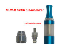 Wholesale Ego V6 Clearomizer - MT3 Atomizer Clearomizer Cartomizer Detachable 2.0ml 2.4ohms Electronic Cigarette V6 Atomizer For EGO-C EGO-W EGO-T Series E-Cigarette