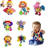 Wholesale Hanging Toys Lamaze - Free DHL 60pcs 38 Styles Lamaze toys Baby Car Bed Hanging Educational Toys Sound Paper BB Device