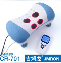 Wholesale Tens Therapy Free Shipping - Digital Tens Massage Pillow Electric Cervical Vertebra Therapeutic Neck gnetic therapy Massager Free Shipping (CR-701)