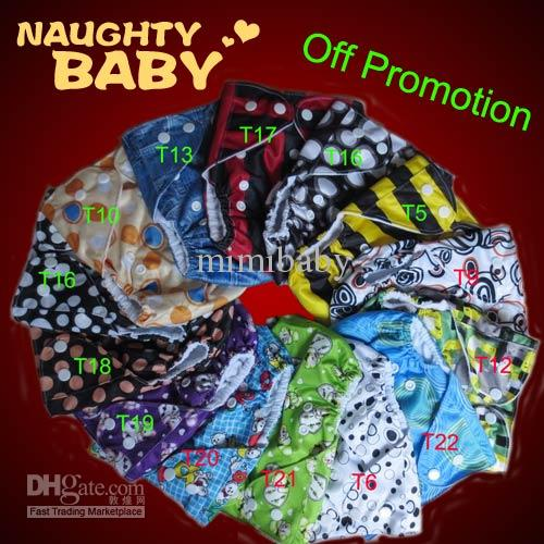 Pocket Diaper Covers With 2 microfier insert Naughtybaby Reusual Fabric Single Row snap Cloth Diapers With Insert 1+2