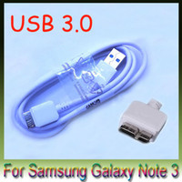 Wholesale Usb Data Cable Dhl - DHL For Samsung Galaxy Note 3 Note3 N9000 Galaxy S5 cable USB 3.0 Data Cable , Micro USB Data Cable Line