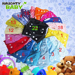 cloth diapers snaps UK - Free Shipping Naughtybaby Breathable Single Row snap One Pocket Cloth Diapers With Insert 100 Sets 1+2