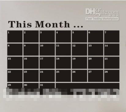 Ny Blackboard Removable PVC Vägg Klistermärke Tavlan Dekal Kalk Board Wall Art