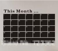 panneaux de mur de pvc achat en gros de-NOUVEAU Tableau noir amovible PVC Wall Sticker tableau noir Chalkboard Wall Art