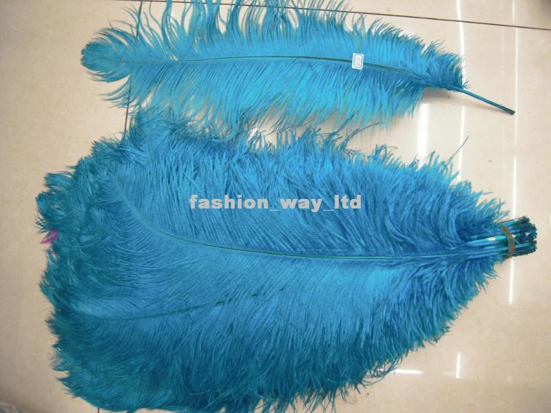 Wholesale - 100pcs/lot 12-14inch Ostrich Feather Plume White,Royal bule,Black,Turquoise,Pink,Yellow Purple Red Ivory Gold Orange