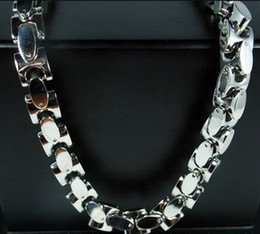 Wholesale Tibet Bone Necklace - 20-40 inches 9mm Heavy silver Interlock Bone Chain Necklace stainless steel Jewelry Men's necklace XMAS gift Free ship