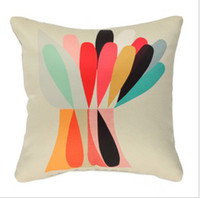 Wholesale Making Throw Pillows - Free shipping colorful waterdrops hand made Linen cushion cover pillow cover  cushions pillows throw pillow case