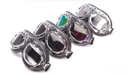$enCountryForm.capitalKeyWord Canada - 4PCS Brand New Motorcycle Glasses dust goggle motorcycle goggles goggles Harley goggles transparent  brown color  silver