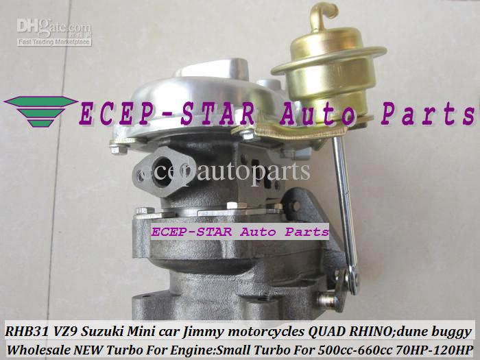 RHB31 VZ9 Pequeño Turbo para Suzuki Jimny Mini Cars 500-660cc Motor; Motocicleta Suzuki; Motocicleta Quad Rhino Dune Buggy Modify 70HP-120HP