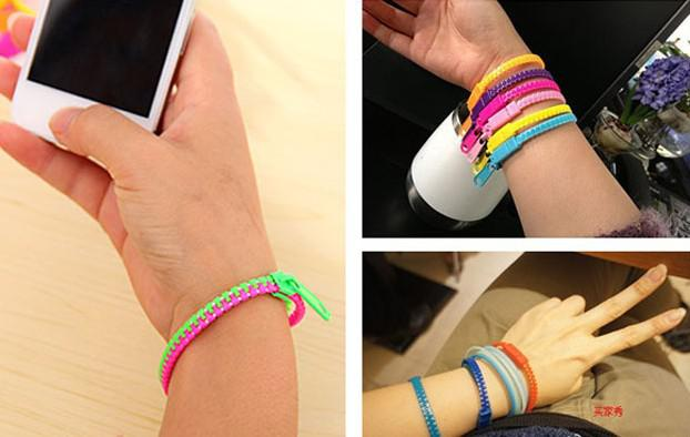 2013 New Zip bracelet wristband candy bracelet Popular Zipper bracelet