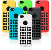 Wholesale Iphone 5c Silicone - Polka Dots Soft Silicone TPU Gel Case Covers Skin Shell Protector for Iphone 5C Mobile Phone CellPhone Fashion Cases 6 Color Free Shipping