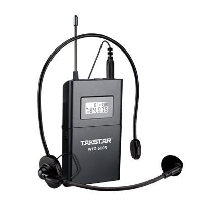 Dispositivo de voz con sistema de guía de viaje inalámbrico de calidad superior Takstar WTG-500 UHF 4 idiomas de interpretación simultánea, enseñanza Sistema de iglesia