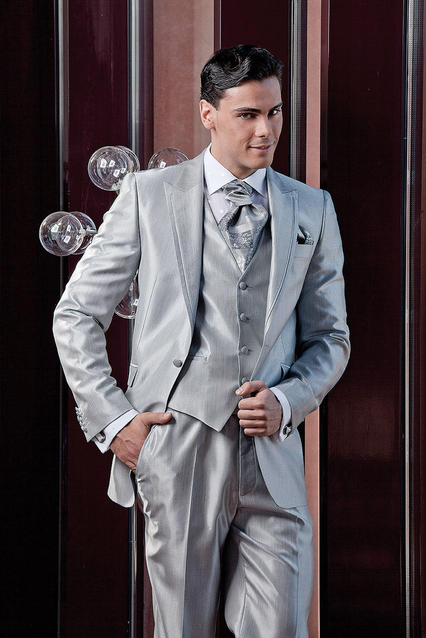 High Quality 2014 New Fashion Custom Made Wedding Groom Suits Handsome Groom Tuxedosjacket+pant+tie+vest159