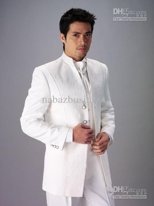 Custom Design Size And Color Groom Tuxedos White Best Man Groomsman ...