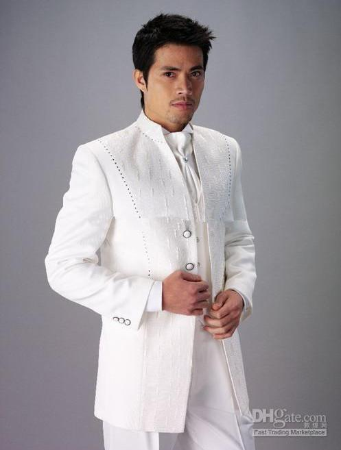 Custom Design Size and Color Groom Tuxedos White Best Man Groomsman ...