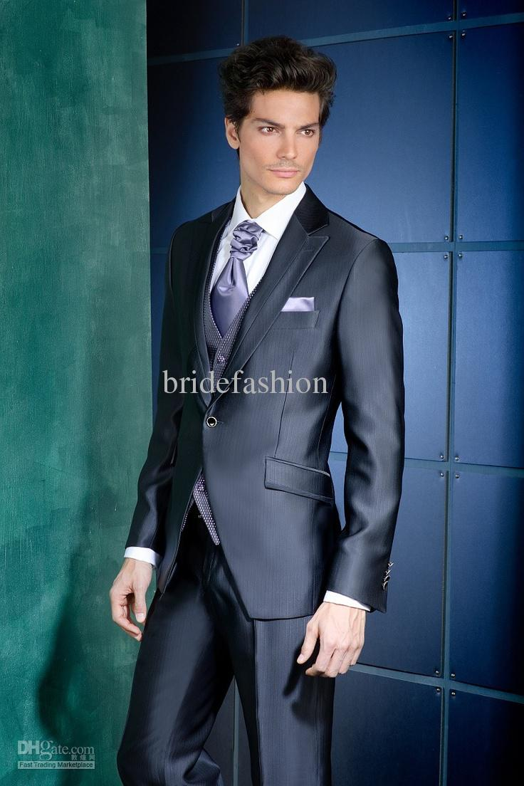 High Quality 2014 New Fashion Custom Made Wedding Groom Suits Handsome Groom Tuxedosjacket+pant+tie+vest1165