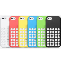 Wholesale Case For Iphone 5c Iphone5c - Soft Silicone Cell Phone Case for iphone 5C iphone5C 1:1 Offical Rubber Cases Cover Snap On Ultra Thin color-matched Gel Skin Cover
