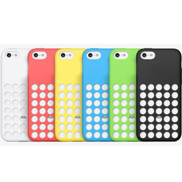 Wholesale Cover Iphone5c - Soft Silicone Cell Phone Case for iphone 5C iphone5C 1:1 Offical Rubber Cases Cover Snap On Ultra Thin color-matched Gel Skin Cover