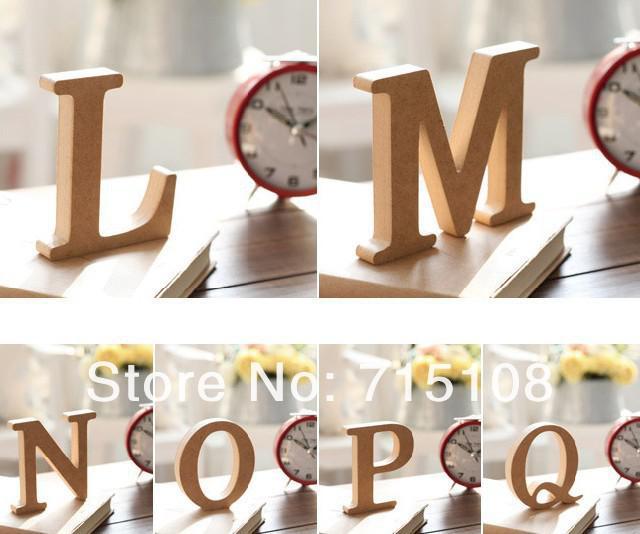 Wooden Letter Home Decoration Free Standing Alphabet A Z Party Decor DIY  Letters Name Combination Store Decor ...