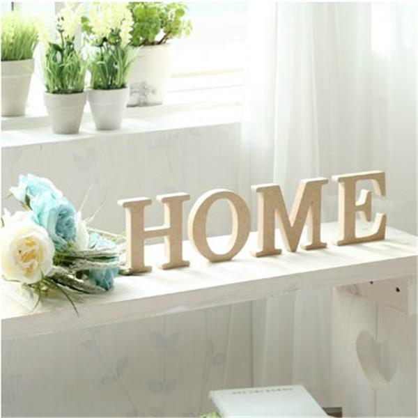 Wooden Letter Home Decoration Free Standing Alphabet A-Z Party Decor DIY  Letters Name Combination Store Decor Free Shipping 10*10cm 8pcs/lot