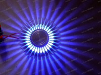 Wholesale Balcony Led Lights - LLFA2705 Fan Star LED Wall Lighting Sconces Decor Fixture Lights Lamp Bulb Wall Lights 3W Lighting Lamps For Aisle Balcony Bar