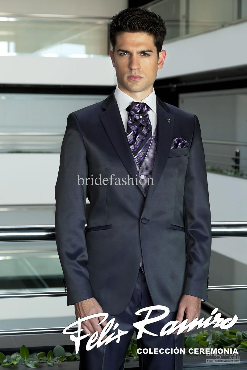 High Quality 2014 New Fashion Custom Made Wedding Groom Suits Handsome Groom Tuxedosjacket+pant+tie+vest266