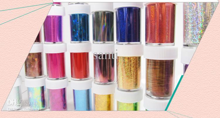 Neue Art und Weise 46 entwirft Mischungsfarben 4cm x 120cm Nagel-Kunst-Übergangs-Folien-Satz-Nagel-Spitze-Dekoration 3d Nagelaufkleber