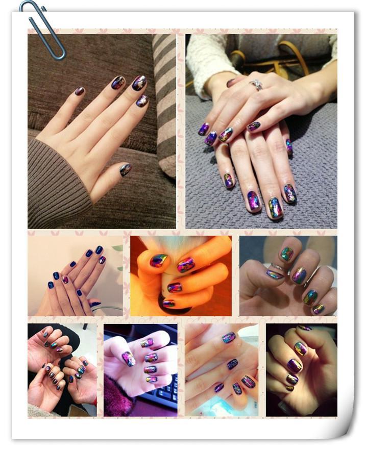New Fashion 46 designs Mix colors 4cm x 120cm Nail Art Transfer Foil Set Nail Tip Decoration 3d nail stickers