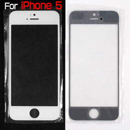 Wholesale Iphone 5c Glass Lens - A- Quality For iPhone 5 5G 5th 5c 5s Front Outer Glass Lens Screen Digitizer Touch Panel Screen Cover Without Flex Cable