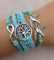 ingrosso braccialetti di vita dell'albero di infinito-bracciale infinity vision fashion infinity in argento, bracciale love, bracciale in pelle gioielli modello no.hy1086