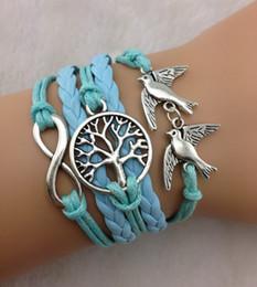 Tree infiniTy love braceleT online shopping - fashion vision infinity bracelet tree of life in silver love bracelet leather bracelet jewelery model no hy1086