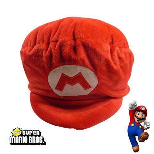 "10"" Super Mario Bros Plush Hat Caps , Stuffed Plush Doll Toys Hat ,Animal Stuffed Doll Hat"