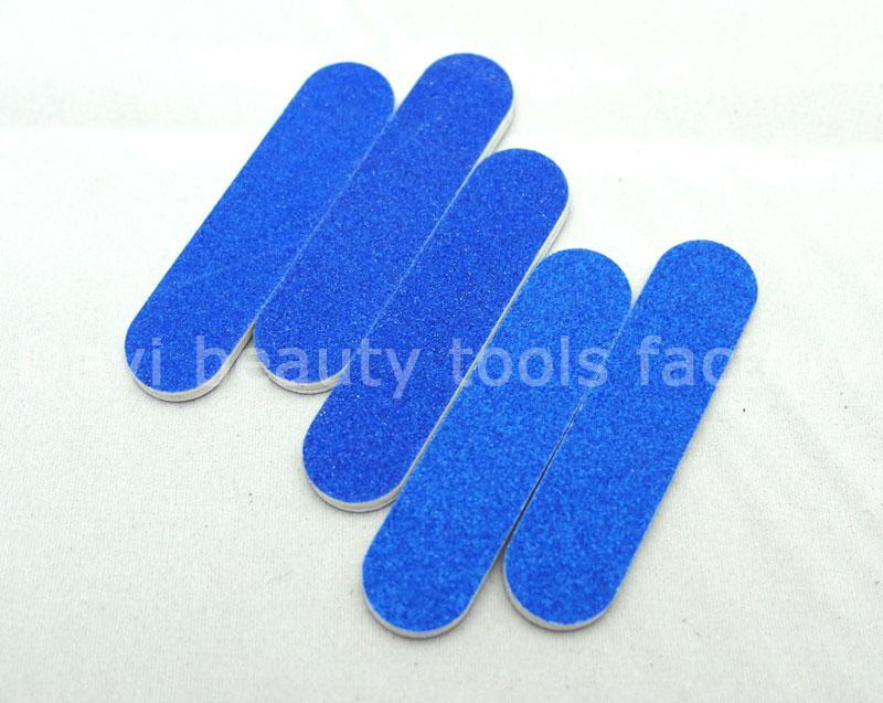 100 pçs / lote Mini lima de unha 6 cm de comprimento lixa Azul lima de esmeril # SC0341-05 frete grátis