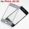 For iPhone4 4 4S 4G Front Outer Glass Lens Screen Digitizer Touch Panel Screen Cover Black White DHL EMS MOQ 100 PCS High Quality