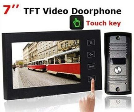 7 بوصة TFT تعمل باللمس اللون الفيديو باب الهاتف المكمل ليلة النسخة كاميرا إنترفون نظام H461