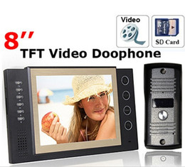 video recording systems 2018 - 8 Inch TFT Monitor LCD Color Video Take Picture Record DoorPhone Intercom System cheap video recording systems