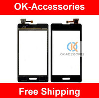 Wholesale Lg L5 Black - Touch Screen Digitizer Black Color For LG Optimus L5 II E460 E450 1PC Lot Free Shipping