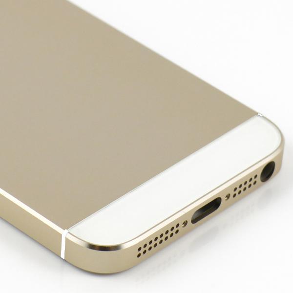 Para carcasa de carcasa trasera de iPhone 5 Haga que iPhone 5 parezca piezas de repuesto de iPhone 5S Marco de champaña dorada