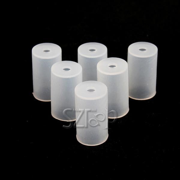 Test tappo antigoccia Tappo monouso atomizzatore Coperchio in silicone Tappo antipolvere morbido CE4 / CE5 / MT3 / VIVI NOVA atomizzatore via dhl