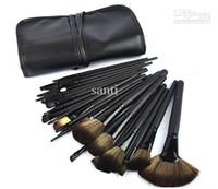 caja de pinceles de maquillaje rollo al por mayor-32Pcs maquillaje profesional maquillaje kit de cepillo cosmético herramienta Roll Up Case