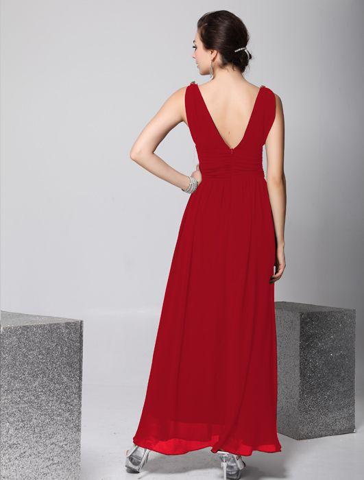 送料無料新着ブラックシフォンVネックストラップドレスAラインフロアレングスブライドメイドドレス高品質