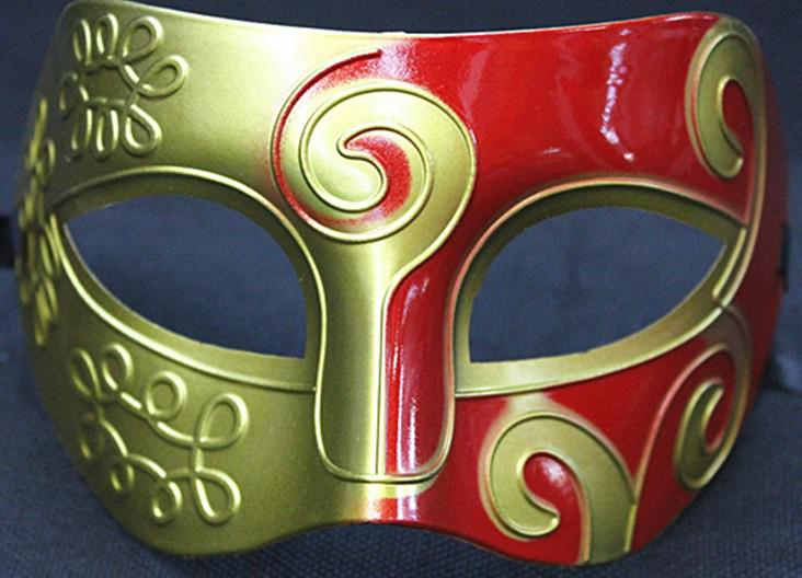 Splitter Gold Halbe Gesichter Venetian Mens Maske Mardi Gras Maskerade Halloween Kostüm Party MASKEN
