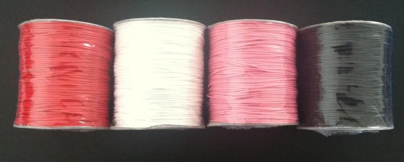 1 rulle 180m vaxad bomullsledning 1,50 mm för DIY smycken 4 färger alternativ