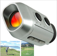 поле для гольфа оптовых-Новый портативный цифровой 7X Гольф сфера дальномер расстояние 1000 м с мягкой случае