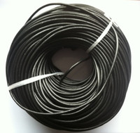 Wholesale 4mm Black Round Cord - Round Leather Cord 4mm real round leather jewelry cords black white option